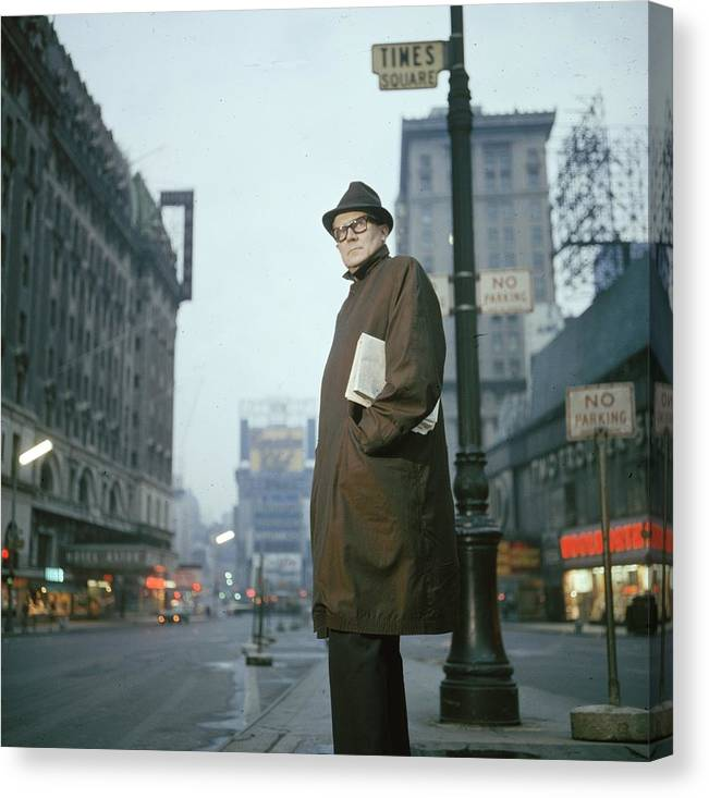 Talkshow Canvas Print featuring the photograph Long John Nebel by Slim Aarons