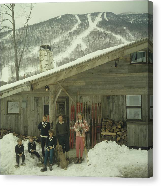 People Canvas Print featuring the photograph On The Slopes In Stowe by Slim Aarons