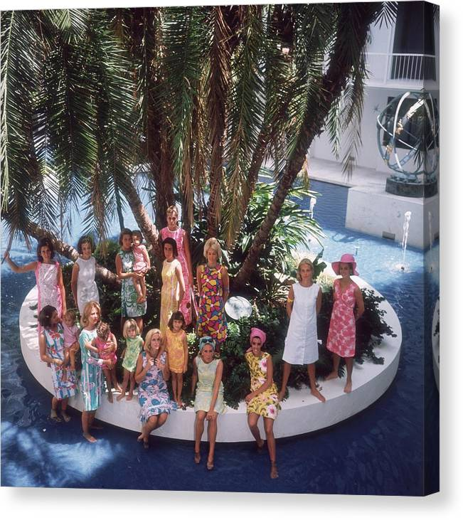 Child Canvas Print featuring the photograph Pulitzer Fashions by Slim Aarons
