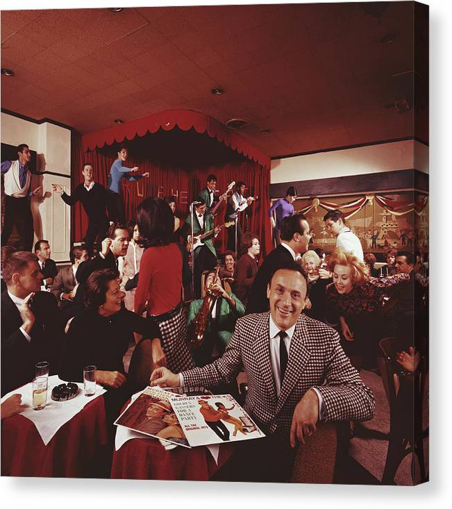 People Canvas Print featuring the photograph Radio Dj by Slim Aarons