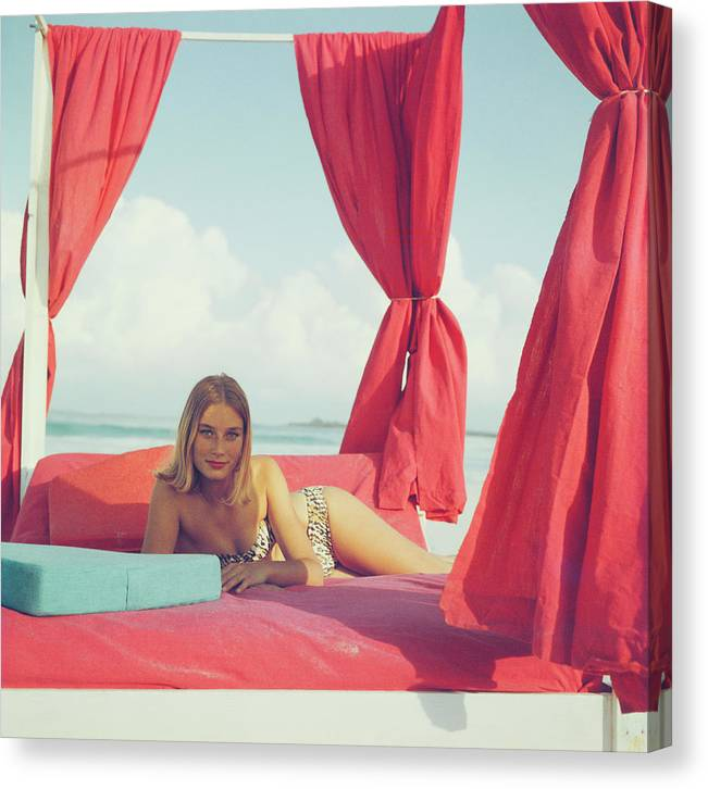 Tania Mallet Canvas Print featuring the photograph Tania Mallet by Slim Aarons