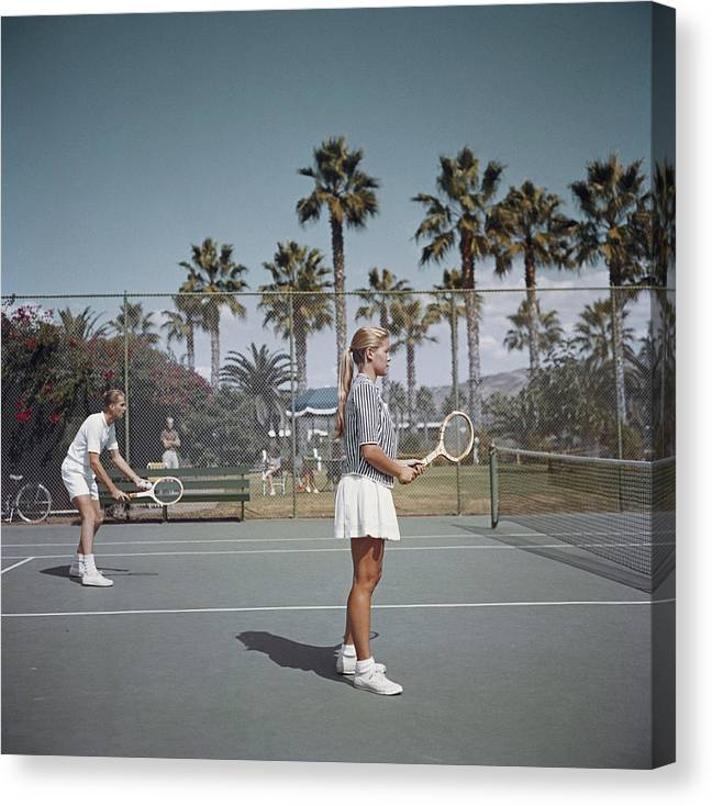 Tennis Canvas Print featuring the photograph Tennis In San Diego by Slim Aarons