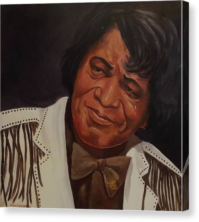 James Brown Canvas Print featuring the painting Tears Of Joy by Wanda Dansereau