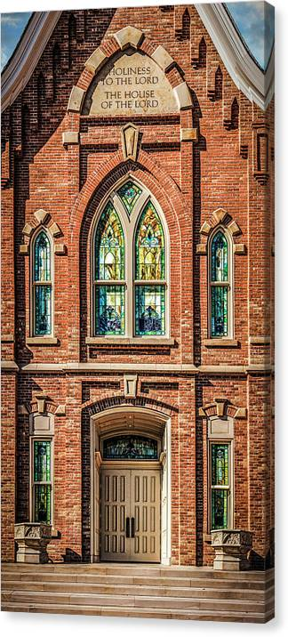 Provo Canvas Print featuring the photograph Provo City Center Temple #2 by Brent Borup