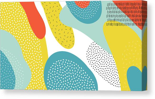 Magazine Cover Canvas Print featuring the digital art Abstract Art Color Vector Lines And by Chaluk