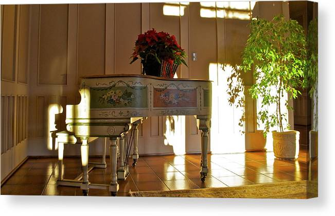 Canvas Print featuring the photograph Piano in Light by Lori Leigh