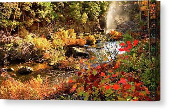 Dead River Falls Canvas Print featuring the photograph Dead River Falls Marquette Michigan by Michael Bessler