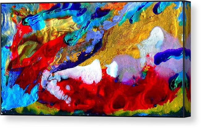 Abstract Canvas Print featuring the painting Abstract - Evolution Series 1011 by Dina Sierra