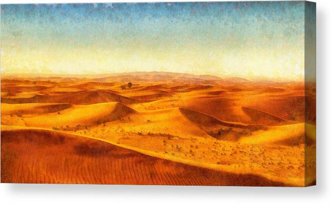 AFRICAN DESERT MODERN CANVAS PRINT PICTURE WALL ART READY TO HANG