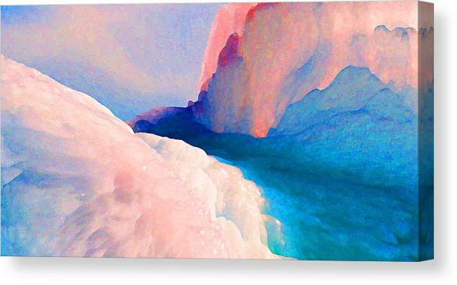Abstract Canvas Print featuring the photograph Ebb and Flow by Steve Karol