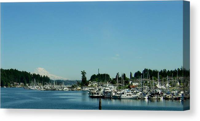 Gig Harbor Bay Canvas Print featuring the photograph Gig Harbor Bay by Valerie Josi