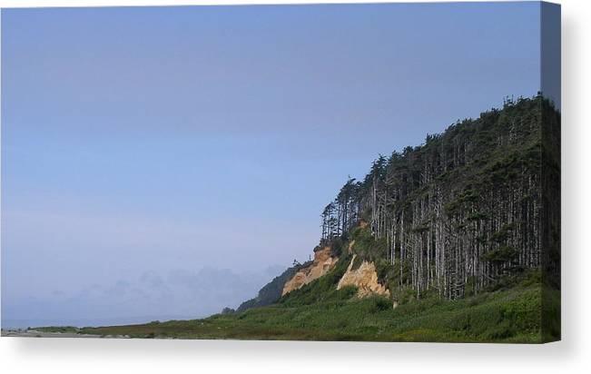 Cliffs Canvas Print featuring the photograph Ocean Shores Washington by Valerie Josi
