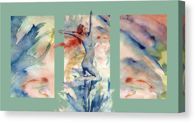 Abstract Canvas Print featuring the painting Tribute by Steve Karol
