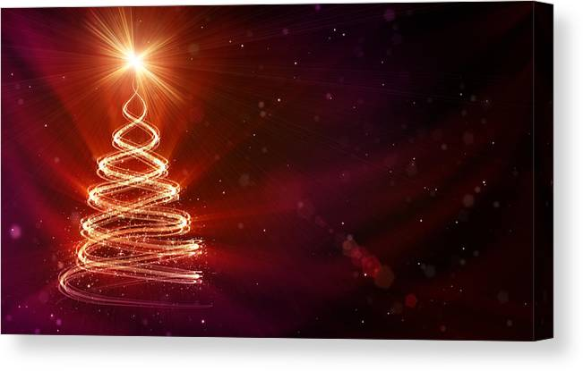 Particle Canvas Print featuring the digital art Christmas Background by Da-kuk
