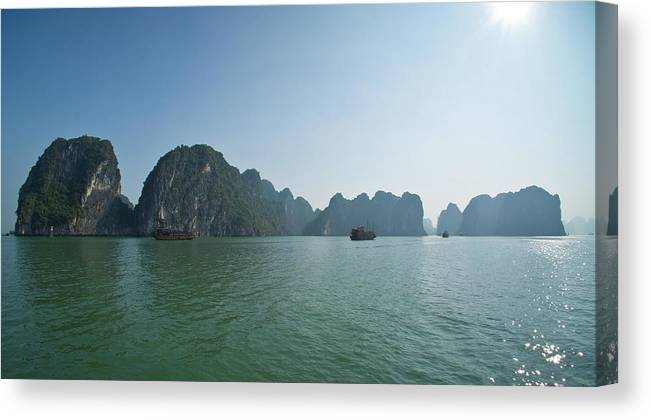 Scenics Canvas Print featuring the photograph Ha Long Bay by By Thomas Gasienica