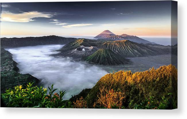 Scenics Canvas Print featuring the photograph Indonesia Mount Bromo by Frederic Huber Photography