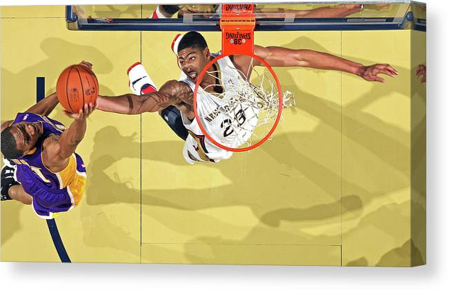 Nba Pro Basketball Canvas Print featuring the photograph Anthony Davis by Layne Murdoch
