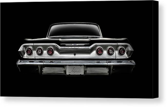 Impala Canvas Print featuring the digital art '63 Impala by Douglas Pittman