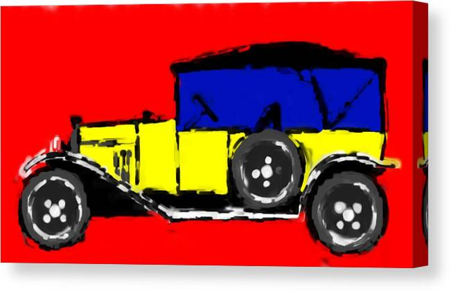F1 Canvas Print featuring the mixed media F1 by Asbjorn Lonvig