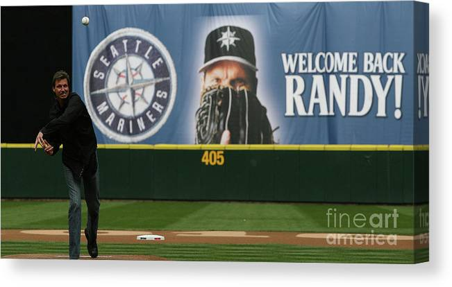 People Canvas Print featuring the photograph Randy Johnson by Otto Greule Jr