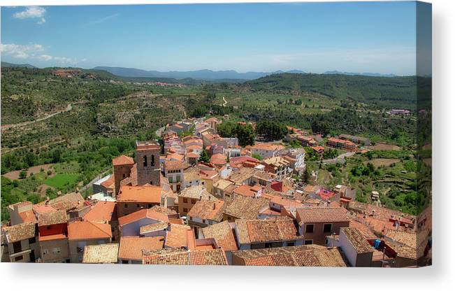 Sky Canvas Print featuring the photograph The Town Of Bejis In Castellon by Vicen Photography