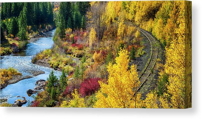 Scenics Canvas Print featuring the photograph Abandoned Railway by C. Fredrickson Photography