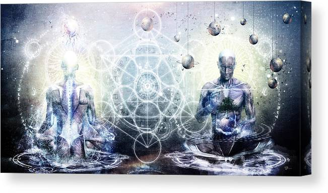 Spiritual Canvas Print featuring the digital art Experience So Lucid Discovery So Clear by Cameron Gray