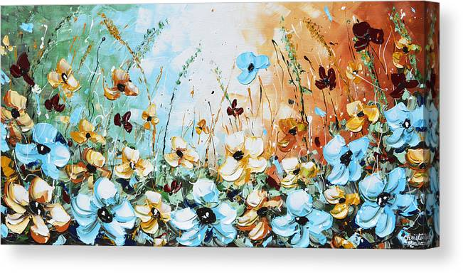 Blue Canvas Print featuring the painting Something Blue by Christine Bell