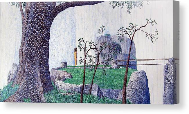 Landscape Canvas Print featuring the painting The Yearning Tree by A Robert Malcom