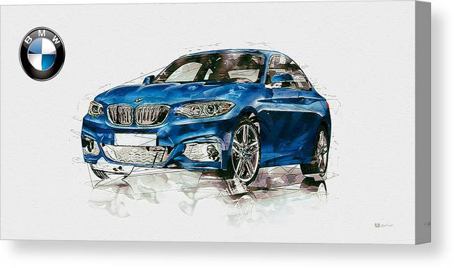 Wheels Of Fortune By Serge Averbukh Canvas Print featuring the photograph 2014 B M W 2 Series Coupe With 3d Badge by Serge Averbukh
