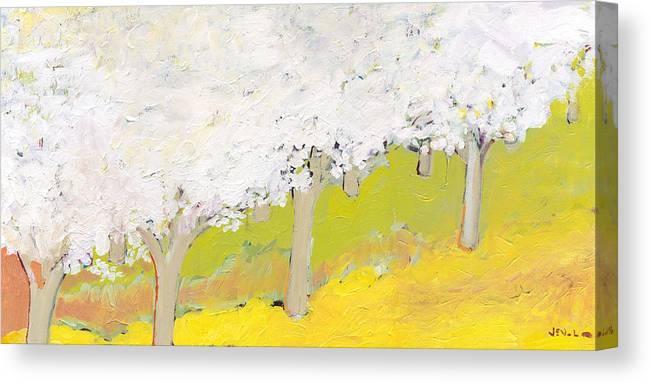 Landscape Canvas Print featuring the painting A Valley in Bloom by Jennifer Lommers