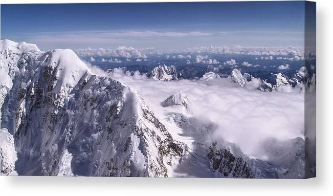 Above Denali Canvas Print featuring the photograph Above Denali by Chad Dutson