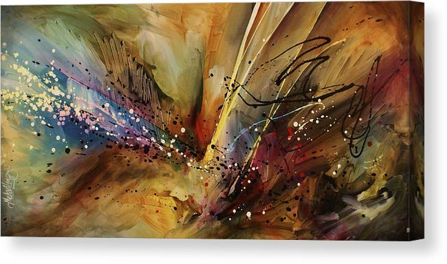 Abstract Expressionism Canvas Print featuring the painting Abstract design 108 by Michael Lang