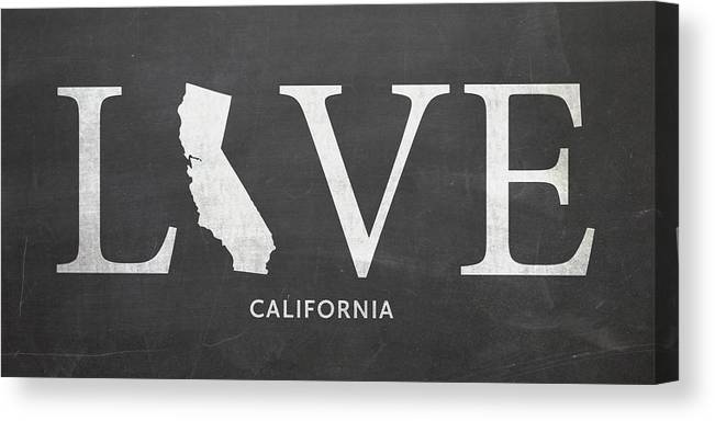 Ca Canvas Print featuring the mixed media Ca Love by Nancy Ingersoll