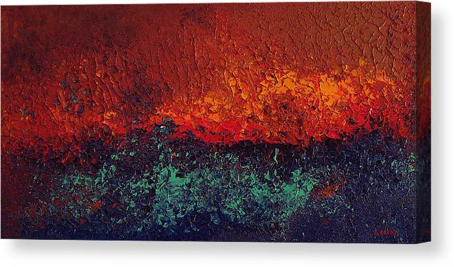 Abstract Canvas Print featuring the painting Firestorm by Michael Lewis