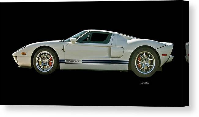 Ford Gt Canvas Print featuring the photograph Ford Gt 3 by Larry Linton