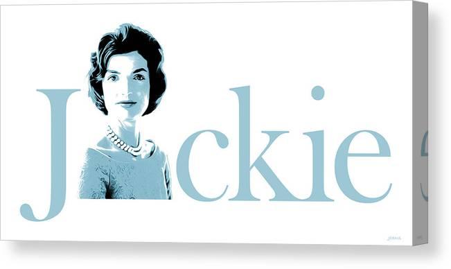 Jackie Kennedy Canvas Print featuring the digital art Jackie by Greg Joens
