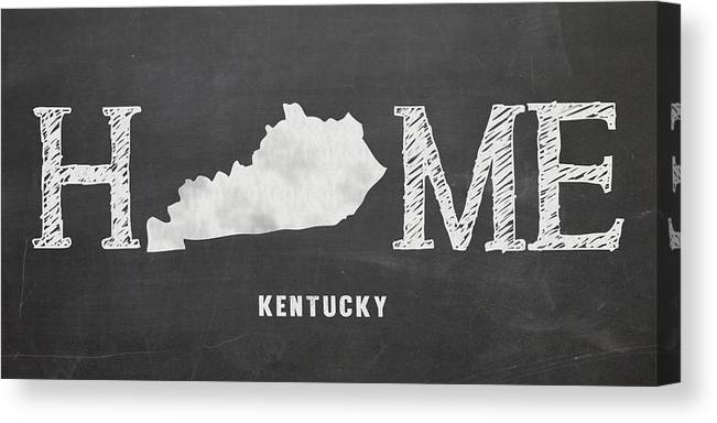 Kentucky Canvas Print featuring the mixed media Ky Home by Nancy Ingersoll