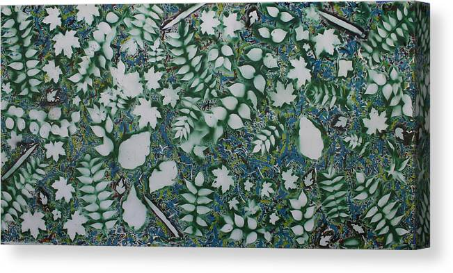 Canvas Print featuring the painting Leaves and knives by Biagio Civale
