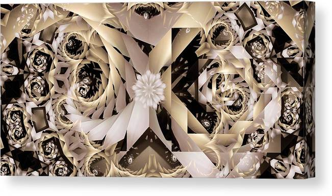 Abstract Canvas Print featuring the digital art Linen and Silk by Ron Bissett