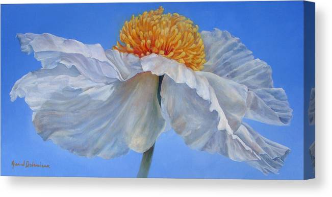 Floral Painting Canvas Print featuring the painting Matilla 2 by Muriel Dolemieux