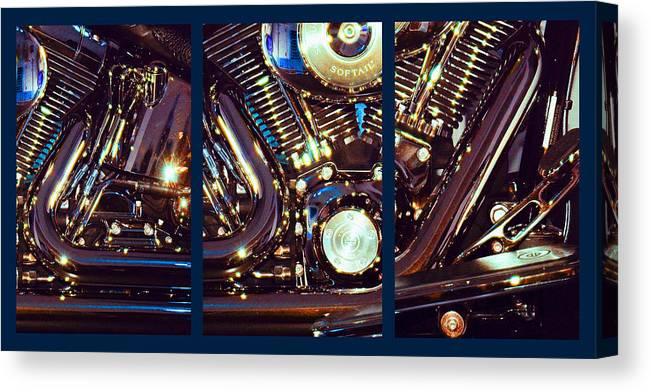 Harley Davidson Canvas Print featuring the photograph Mechanism by Steve Karol