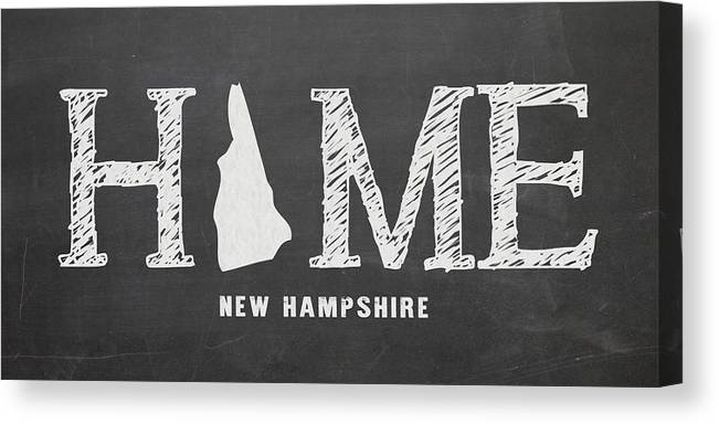 New Hampshire Canvas Print featuring the mixed media Nh Home by Nancy Ingersoll