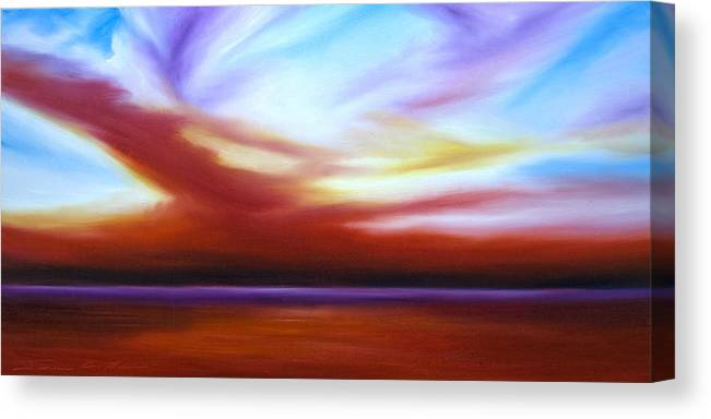 Skyscape Canvas Print featuring the painting October Sky III by James Christopher Hill