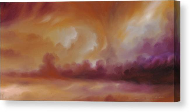 Tempest Canvas Print featuring the painting Storm Clouds 2 by James Christopher Hill