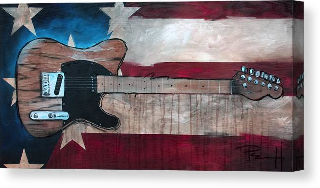 Bruce Springsteen Canvas Print featuring the painting The Boss by Sean Parnell