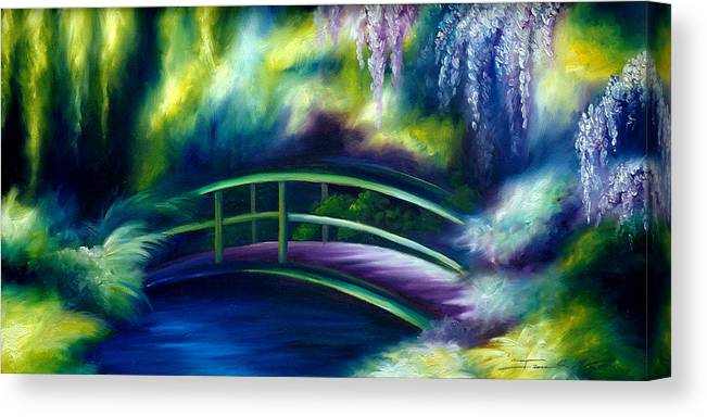 Sunrise Canvas Print featuring the painting The Gardens of Givernia by James Christopher Hill