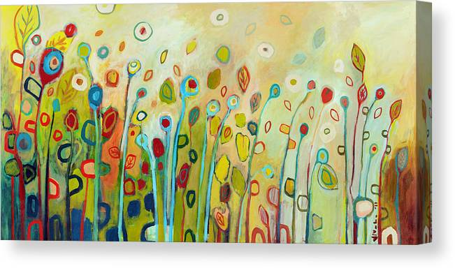 Floral Canvas Print featuring the painting Within by Jennifer Lommers