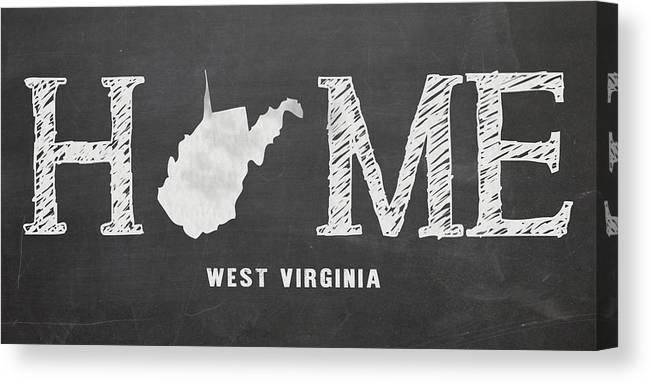 West Virginia Canvas Print featuring the mixed media Wv Home by Nancy Ingersoll