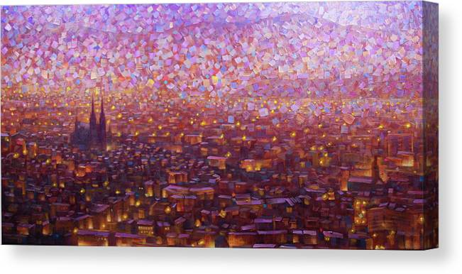 Rob Buntin Canvas Print featuring the painting Cathedrale 1 by Rob Buntin